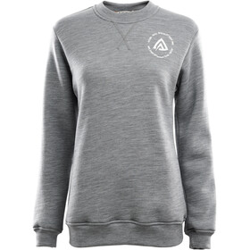Aclima FleeceWool Crew Neck Sweater Women grey melange
